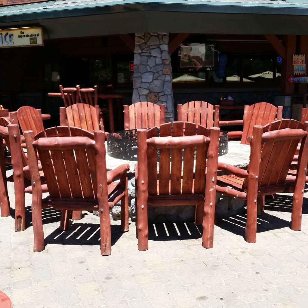 Aspen Log Outdoor Chair Bench