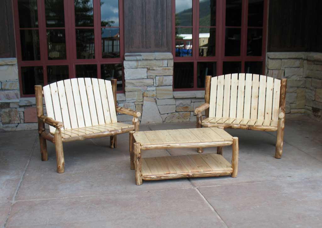 Aspen Log Outdoor Coffee Table