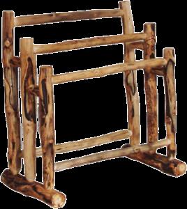 Aspen Log Quilt Rack