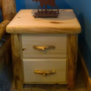 "24""W Flat Front 2 Drawer Nightstand"