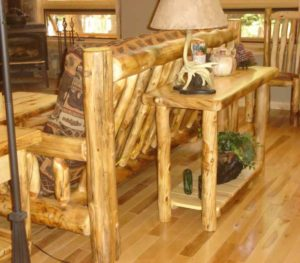 Aspen Log Sofa Table