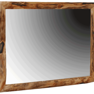 Aspen Log 41x47 Gnarly Framed Mirror