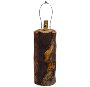 Aspen Log Barrel Lamp