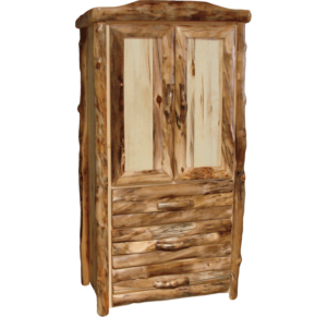Aspen Log 3 Drawer Armoire