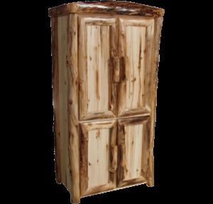 """39""""W Aspen Log Front Lower Door Armoire"""