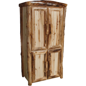 Aspen Log Lower Door Armoire