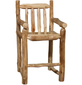 Aspen Log Captain's Bar Chair