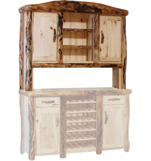 Kitchen Buffet Hutches   Rustic Log Furniture of Utah