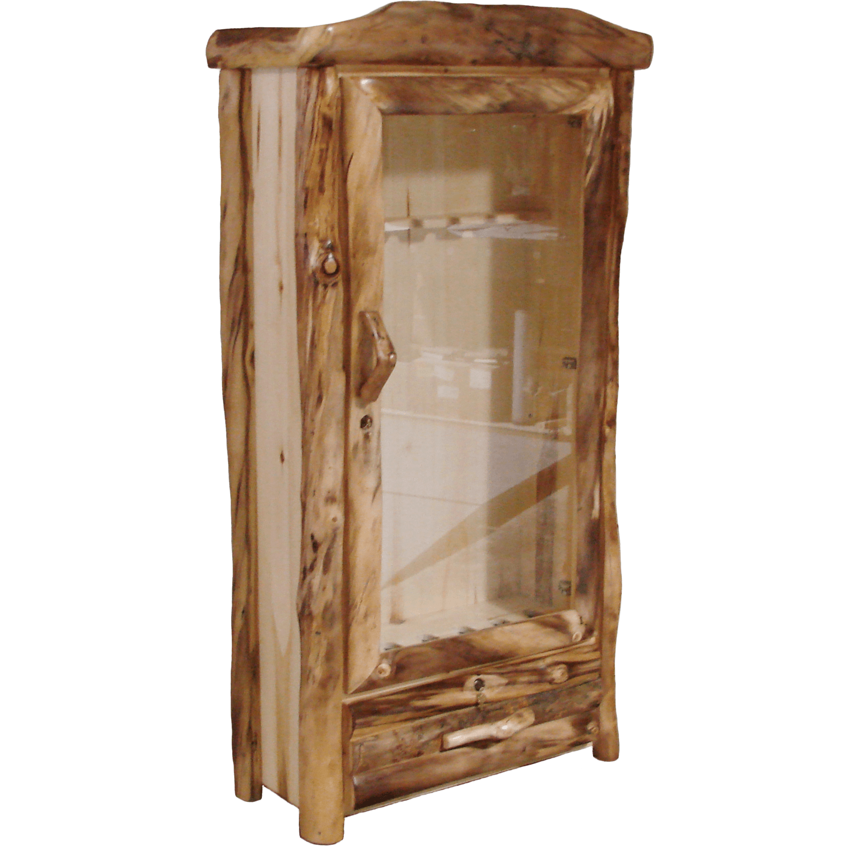 Aspen Log 1 Drawer Gun Cabinet  sc 1 st  Rustic Log Furniture of Utah & Aspen Log 1 Drawer Gun Cabinet | Rustic Log Furniture of Utah