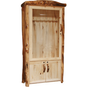 Aspen Log Lower Door Gun Cabinet