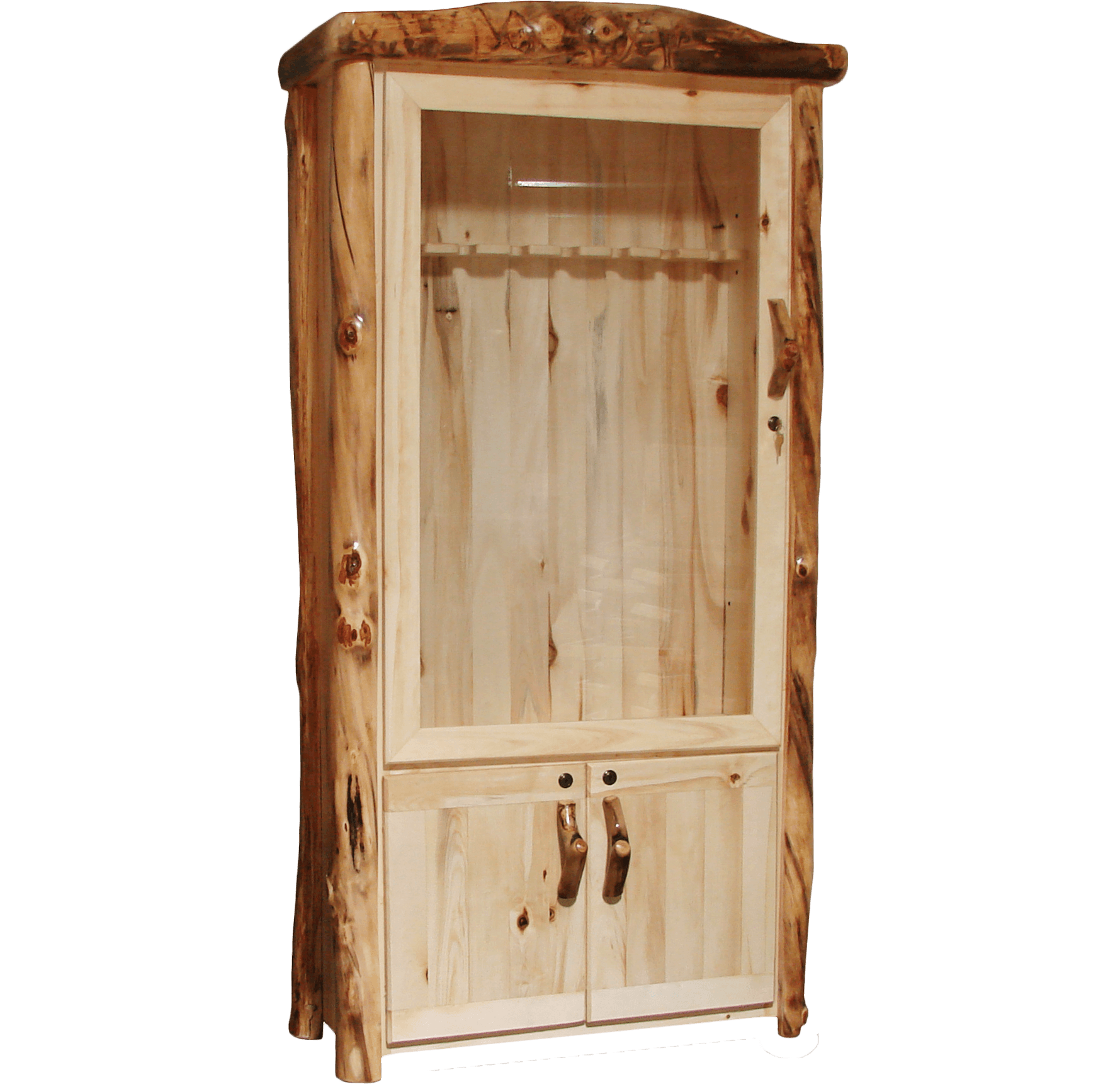 Aspen Log Lower Door Cabinet
