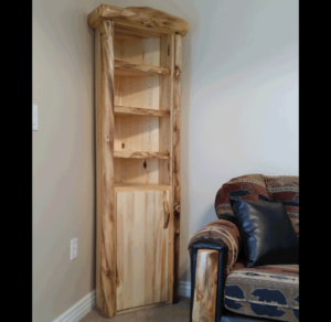 Aspen Log Corner Cabinet Rustic Log Furniture Of Utah