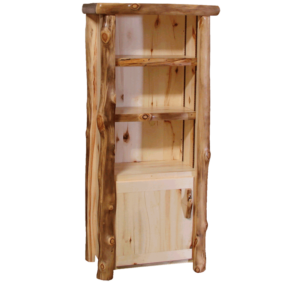 Aspen Log 60 Inch Tall Door Bookcase