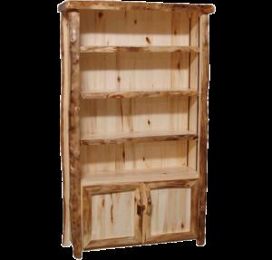 Aspen Log 75 Inch Tall Door Bookcase