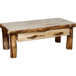 Aspen Log Standard Coffee Table with Drawer