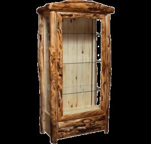 Aspen Log 1 Drawer Display Cabinet