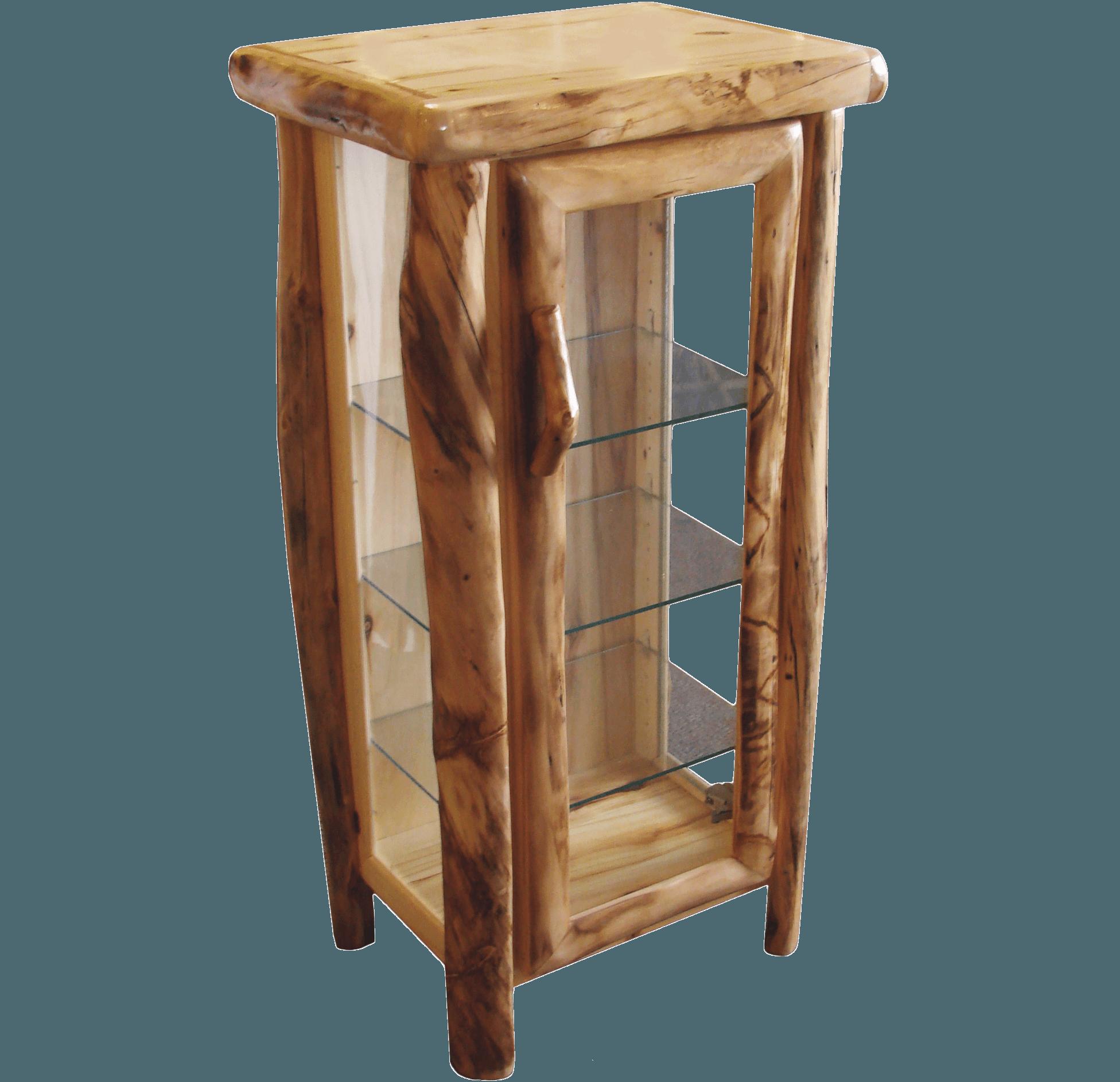 Aspen Log Curio Cabinet