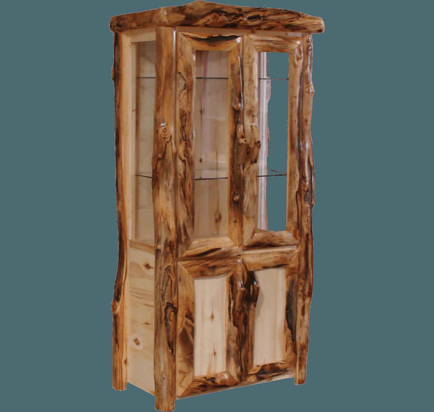 Aspen Log Lower Door Display Cabinet