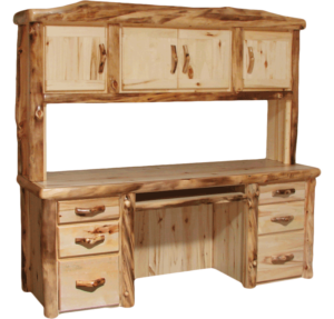 Aspen Log Desk Hutch