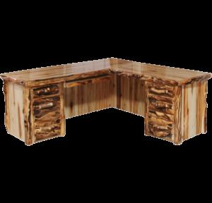 Aspen Log L-Desk