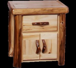 Aspen Log Nightstand