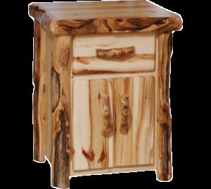 Aspen Log Tall Nightstand