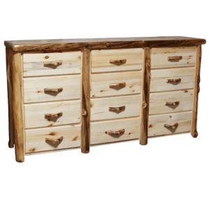 Aspen Log Dresser 12 Drawer