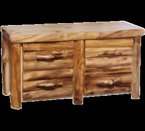 Aspen Log 4 Drawer Dresser