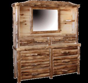 Aspen Log Dresser Hutch