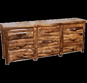 Aspen Log 9 Drawer Dresser