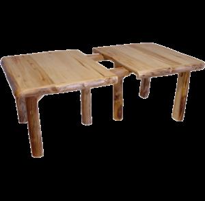 Aspen Log Leaf Table