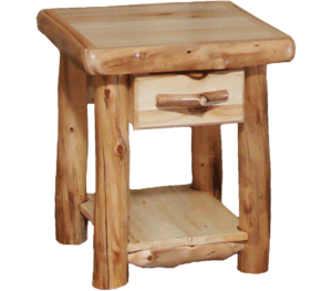 "21""W Aspen End Table with Flat Front Drawer"