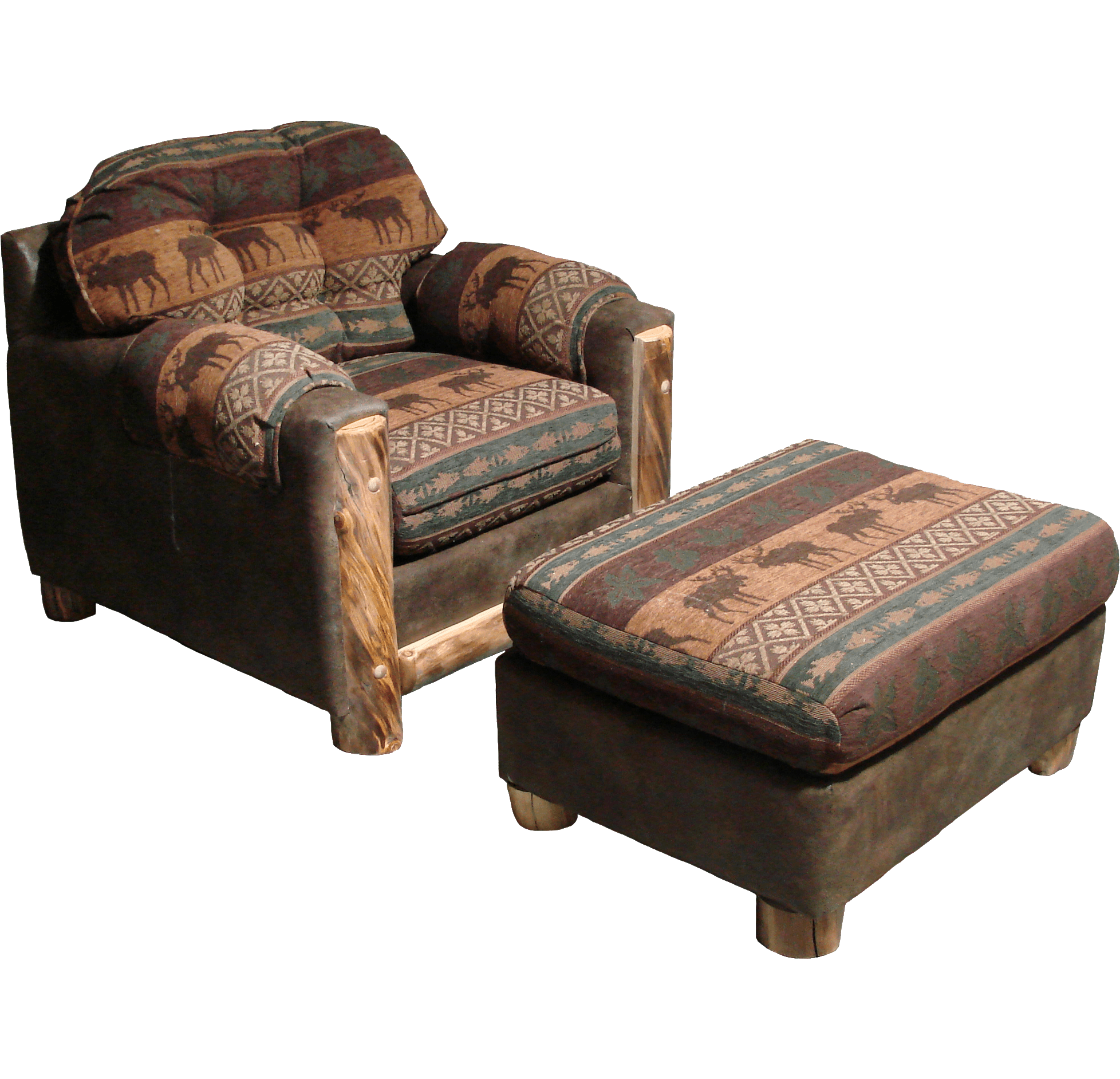 Aspen Log Trimmed Sofa Rustic Log Furniture Of Utah