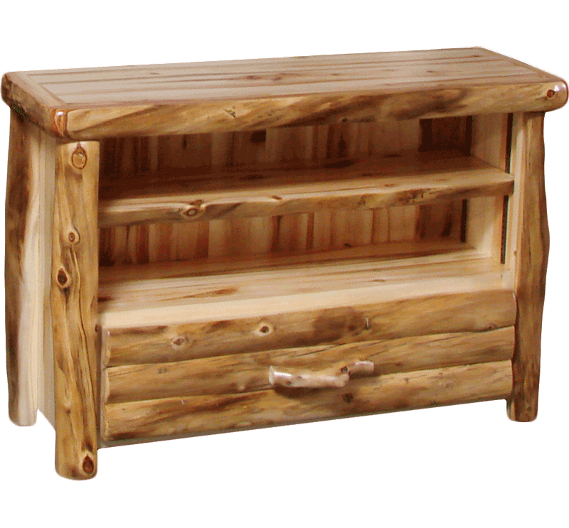 Charmant Aspen Log 1 Drawer TV Stand