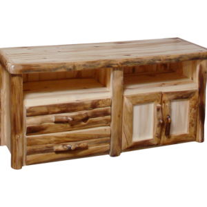 "Aspen Log 2 Drawer TV Stand - 60""W"