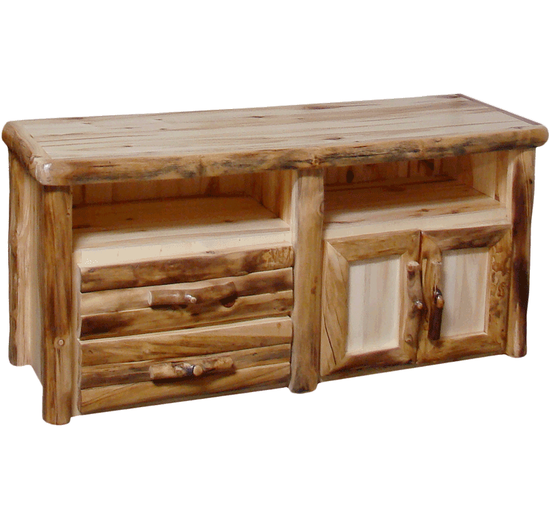 Genial Aspen Log 2 Drawer TV Stand