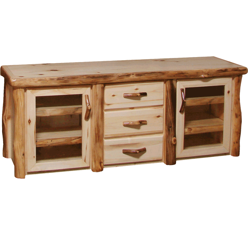Aspen Log 3 Drawer TV Stand