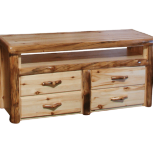 "Aspen Log 4 Drawer TV Stand - 48""W"