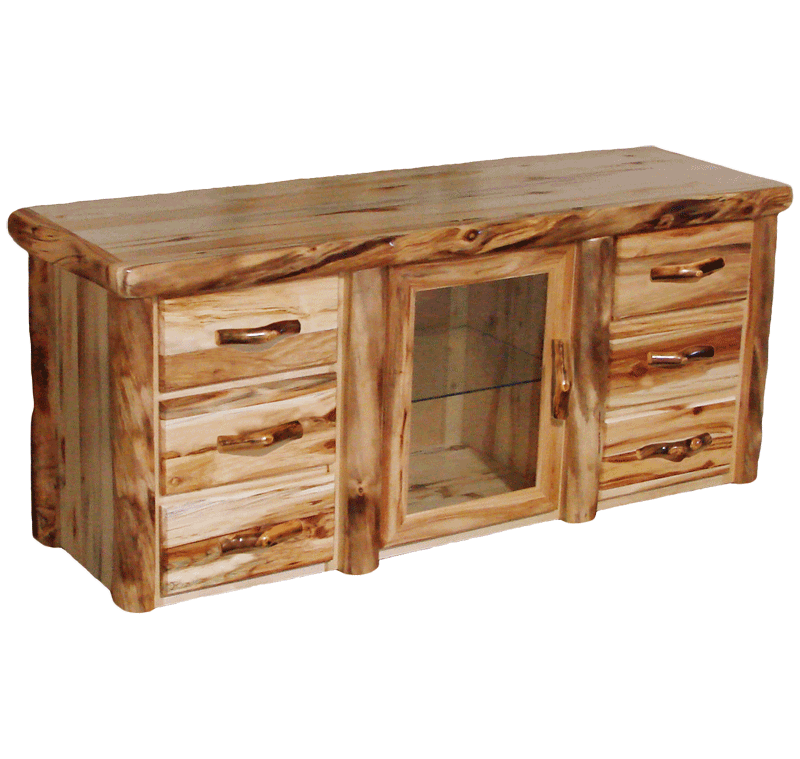 Superieur Aspen Log 6 Drawer TV Stand