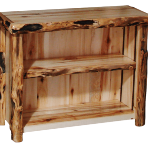 "Aspen Log Open TV Stand - 39""W - Gnarly Log Option"