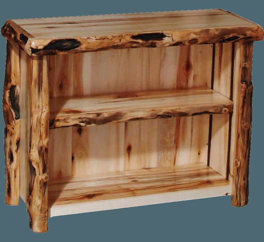 Aspen Log Open TV Stand