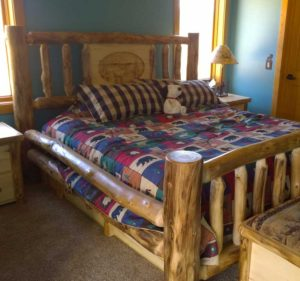 Aspen Log Routered Insert Bed