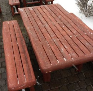 Aspen Log Outdoor Bench