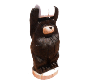 2' Carved Toilet Paper Bear