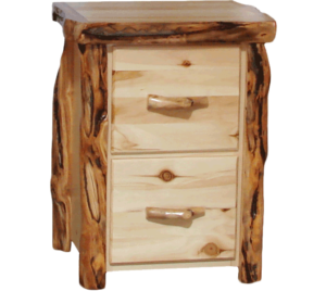 Aspen Log 2 Drawer File Cabinet w/ Gnarly Option