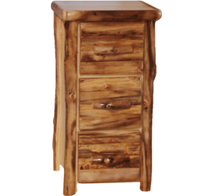 "Aspen Log 3 Drawer File Cabinet - 24""W - Log Front"