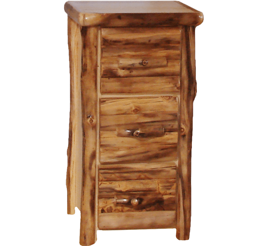 Aspen Log 3 Drawer File Cabinet