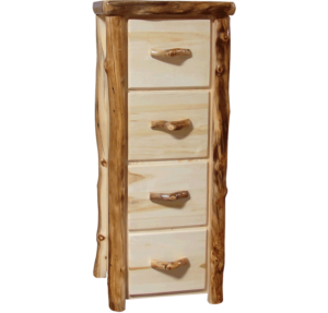 Aspen Log 4 Drawer File Cabinet