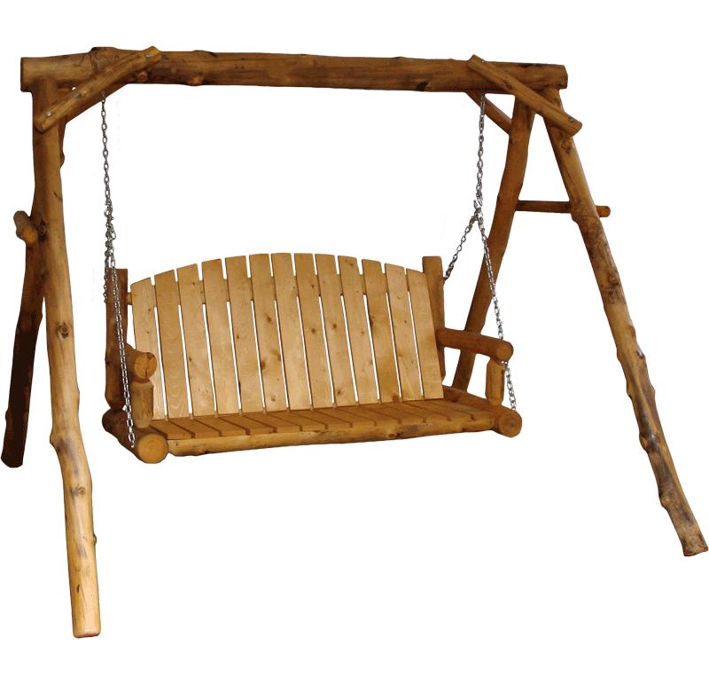 Aspen Log Yard Swing Rustic Log Furniture Of Utah