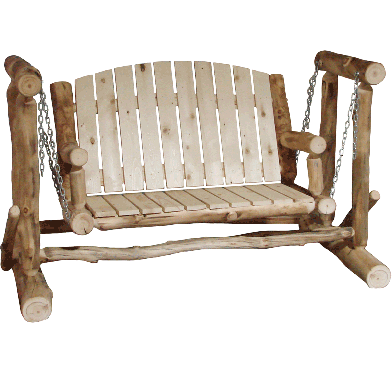 Aspen Log Outdoor Glider